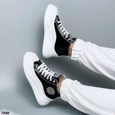 Женские кроссовки кеды хайтопы на высокой подошве