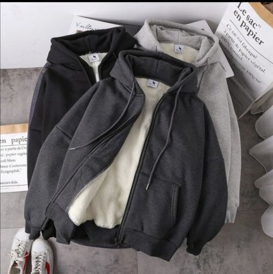Теплая кофта с мехом . 42-44, 46-48, 50-52 черный, серый, графит