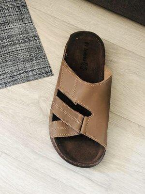 Шлёпанцы мужские кожаные удобная колодка новые Inblu