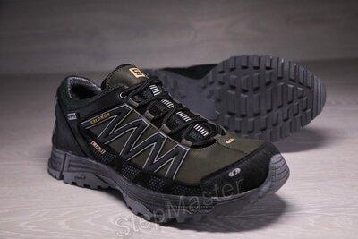 Кроссовки мужские кожаные Salomon Speedcross хаки