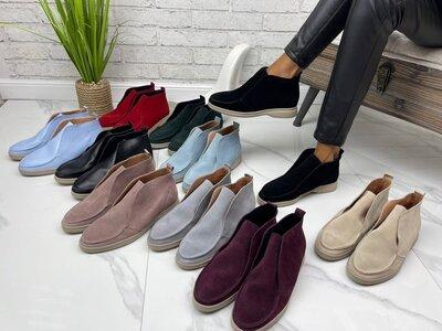 Женские замшевые ботинки Loro Piana