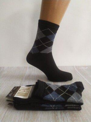 Отличные мужские носки хлопок Ромб Милена Шкарпетки чоловічі