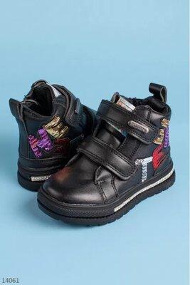 Продано: Стильные демисезонные ботинки девочке, цвета
