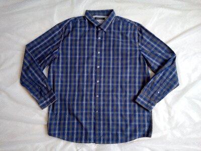 Продано: Клетчатая рубашка 2-3ХЛ в клетку мужская