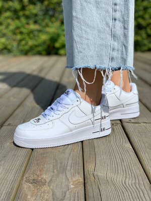 Nike Air Force 1 Low Double Air White Black