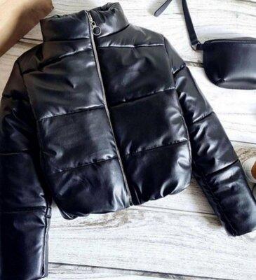 Куртка эко кожа осень, детская подросток.