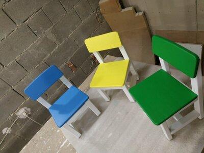 Продано: Прочные деревянные детские столики стулья/стульчики/табуретки для дома и детского сада
