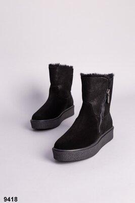 Код 9418 з Женские ботинки Размеры 36-41 Сезон зима Материал верха натуральная замша Внутри пол