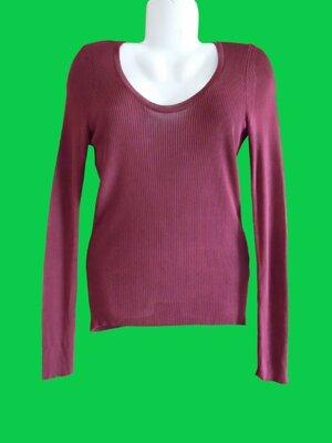 Джемпер коричнево-бордовый
