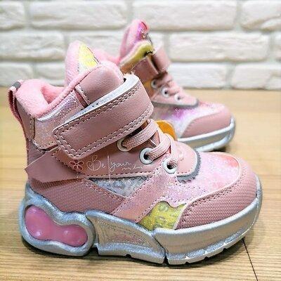 Деми ботинки Clibee P645p розовый размеры 22-27