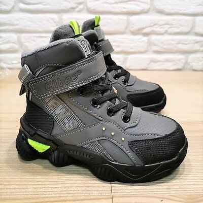 Деми ботинки Clibee P648gg серый размеры 26-31