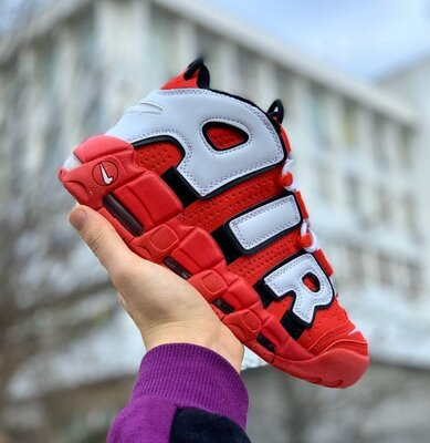 Мужские кроссовки Nike Air More Uptempo 96 Red White скидка 45 sale   чоловічі кросівки найк