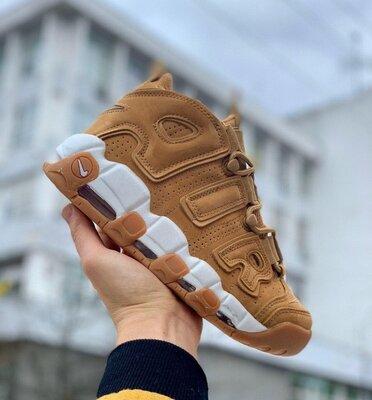 Мужские кроссовки Nike Air More Uptempo 96 Brown скидка sale | чоловічі кросівки найк
