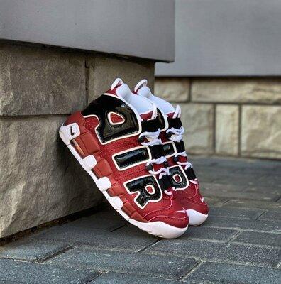 Мужские кроссовки Nike Air More Uptempo 96 Red Black скидка 44 sale   чоловічі кросівки найк
