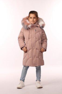 Новинка 2022, зимний пуховик для девочек 116-134 см