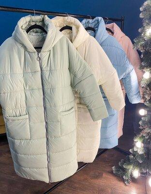 зимнее пальто свободного кроя