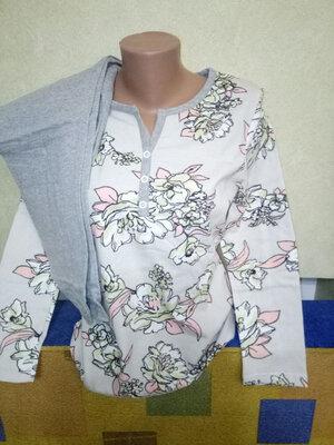 Продано: Пижама женская реглан, штаны, теплая с начесом, Узбекистан