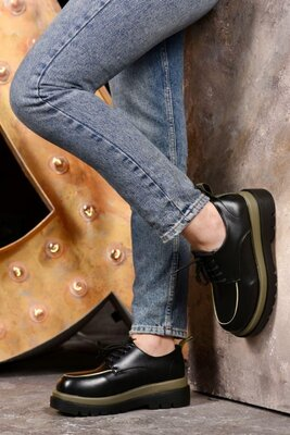 Осень 2021.Женские туфли на шнуровке.Р.36-41