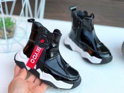 Ботинки демисезонные, лаковые ботинки