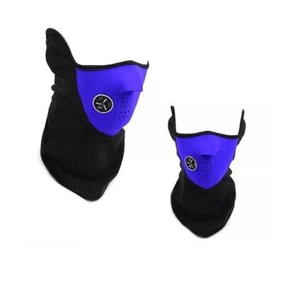 Бафф маска флис лыжная, Унисекс синий