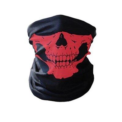 Бафф маска с рисунком черепа Челюсть , Унисекс красный