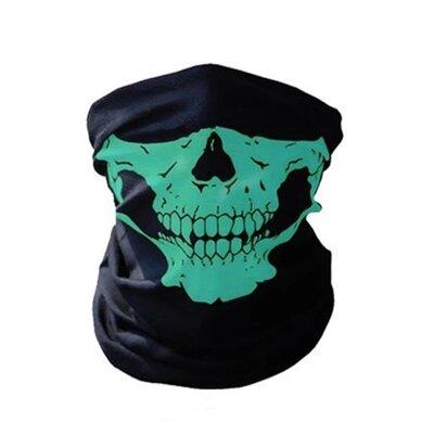 Бафф маска с рисунком черепа Челюсть , Унисекс зеленый