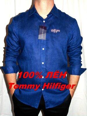 TOMMY HILFIGER Лён Шикарная брендовая рубашка - XL - L