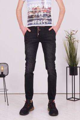 Продано: Джинсы джогеры мужские серого / черного цвета джинсы на резинке