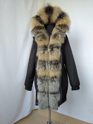 Парка куртка з натуральним хутром натуральным мехом