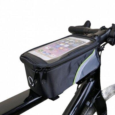 Сумка на раму велосипеда с отделением под смартфон
