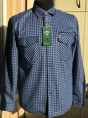 Продано: Теплая рубашка на флисе в клетку