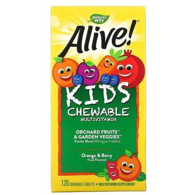 Витамины для детей Nature's Way, Alive от Іherb 120 шт