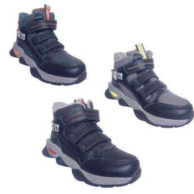Демисезонные ботинки мальчикам, утепленные кроссовки, р-ры 32-37