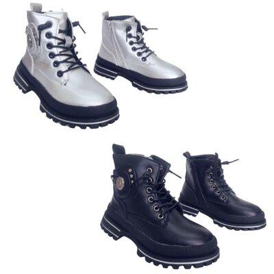 Детские демисезонные ботинки, утепленные высокие теплые осенние ботинки девочкам, р. 27-32