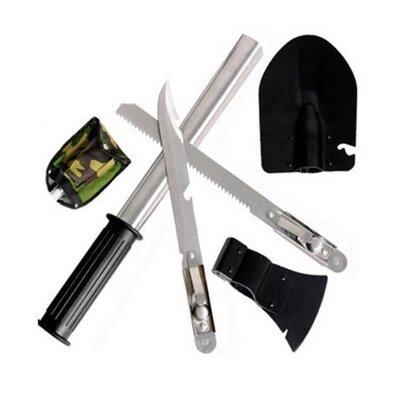 Лопата саперная туристическая 5в1. Лопата, открывашка,пила, топор, нож