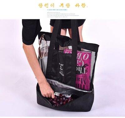 Пляжная сумка-холодильник, термо сумка, сумка для пикника