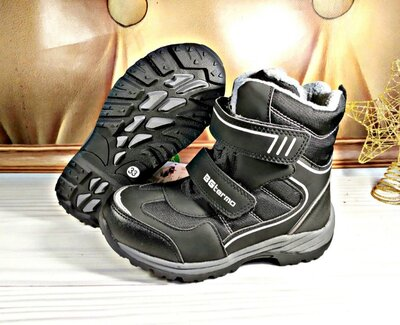 Термо ботинки р-р 35.38 фирма b&g черные