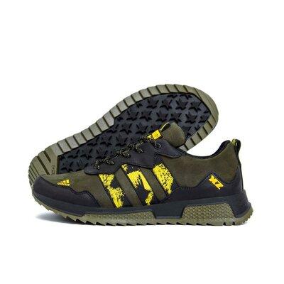 Мужские кожаные кроссовки Adidas XZ Olive