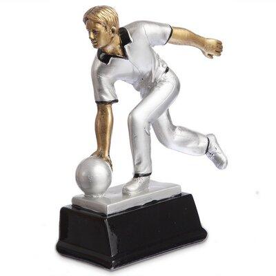 Награда спортивная Боулинг статуэтка наградная боулингист 2880-A11 17 x 7 x 20см