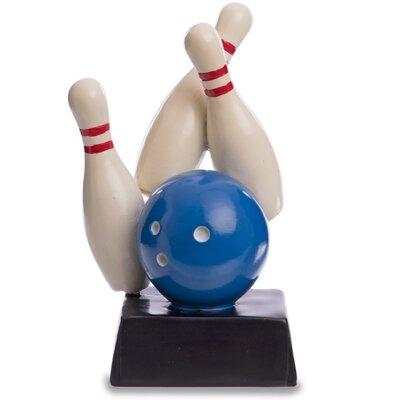 Награда спортивная Боулинг статуэтка наградная кегли для боулинга 4270-B8 16 x 9 x 6см