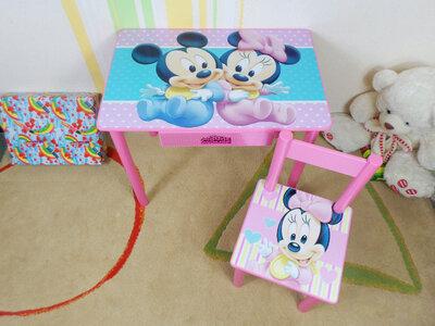 Детский столик и стульчик МАЛЫШИ стол-парта стул до 7-8 лет комплект