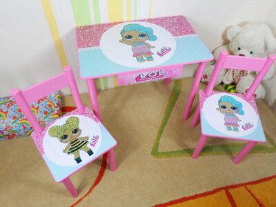Детский столик и стульчик Lol Dolls стол-парта стул до 7-8 лет варианты