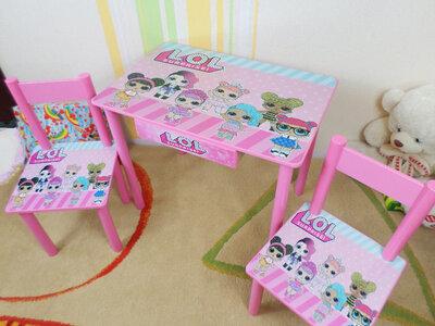 Детский столик и стульчик Куклы Лол стол-парта стул до 7-8 лет варианты