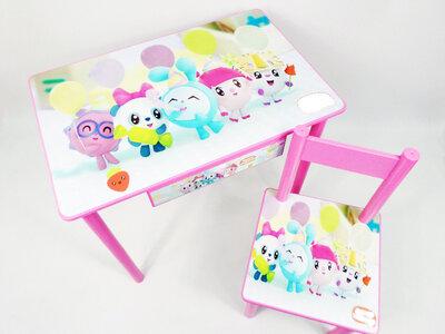 Детский столик и стульчик МАЛЫШАРИКИ стол-парта стул до 7-8 лет варианты