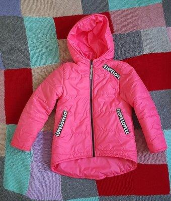 Классная,яркая демисезонная куртка для девочки деми демисезон