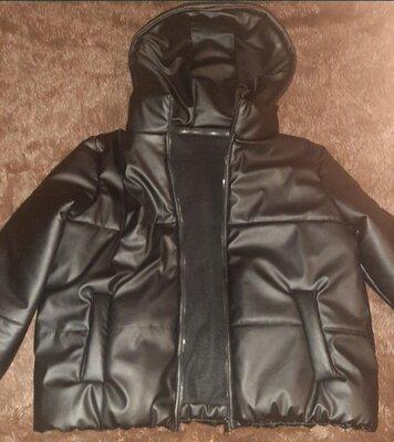 Куртка эко кожа, батальный размер до 60