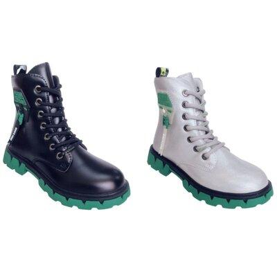 Детские демисезонные ботинки, утепленные высокие теплые осенние ботинки девочкам, р-ры 31-36