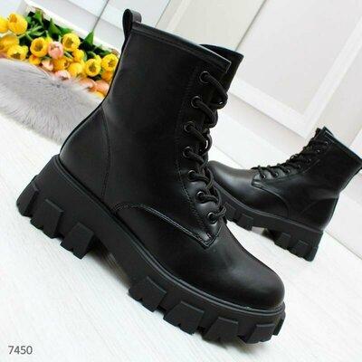 Продано: Ботинки женские черные