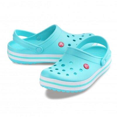 Оригинальные яркие кроксы, сабо crocs сабо crocband бирюзовые