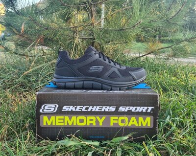 Мужские кроссовки Skechers Track Scloric оригинал. Натуральная кожа. 42-45
